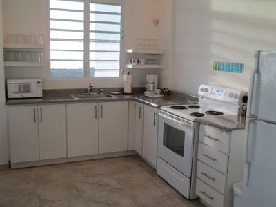 Vieques Island apartment rental - With that view from the window, I can't wait to cook and wash dishes.