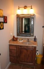 New Braunfels condo photo - Fiesta Master Bath Area with Authentic Mexican Mirror