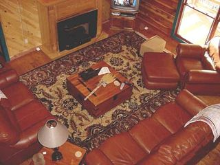 Mountain View house photo - Cedar Log Home Living Room