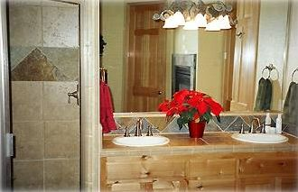 Large, private master bath with jetted tub and shower and private water closet
