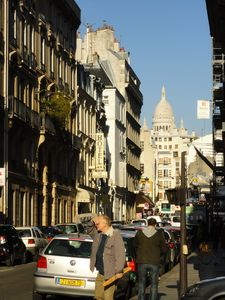 View from the street to Sacre-Coeur