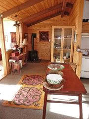 Absarokee cabin photo - Kitchen/Gas Fireplace