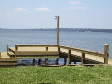 Pier located in back yard off Lake Livingston