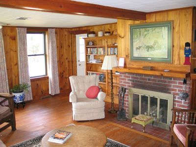The Sow's Ear, a Franconia Notch Vacations Property - The wood burning fireplace sits ready to warm the coolest of moods and coldest of days.