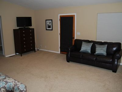 Master Bedroom with Flat Panel TV, DVD player and Queen size Sofa Bed