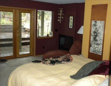 Master Suite just steps from the creek and spa