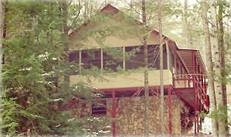 Robbinsville cabin rental - Cabin seen from street below