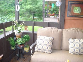 Killington condo photo - Sit and listen to the song birds and watch the humming birds darting about