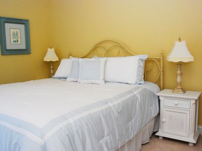 North Topsail Beach house rental - King master suite w/ private bath & balcony w/ views of ocean & intercoastal.