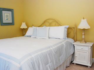 North Topsail Beach house photo - King master suite w/ private bath & balcony w/ views of ocean & intercoastal.