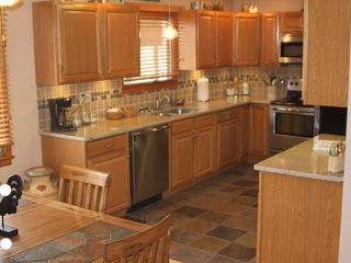 Lehighton house photo - brand new fully equipped kitchen with granite countertops