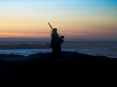 past Spanish Bay where you will hear bagpipes at sunset.