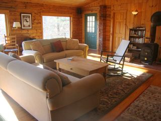 Bridgewater Corners cabin photo - Living room with woodstove
