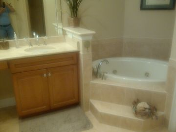 Partial view of master bath