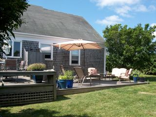 Tom Nevers house photo - Relax and enjoy the wonderful outside entertaining area after a day at the beach