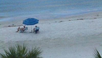 We provide the beach chairs, umbrella, small cooler and beach towels.
