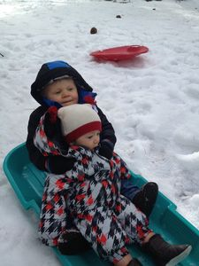 Best buddies, Jameson & Jack's 1st snow:) Little ones luv Little Lodge too:)
