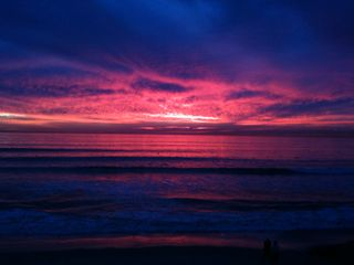 Carlsbad house photo - you've got to see the sunsets for yourself in person