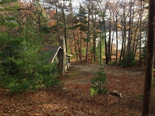 Honor cabin photo - View of Cabin and Lake in late October
