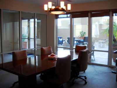 Business center with conference table