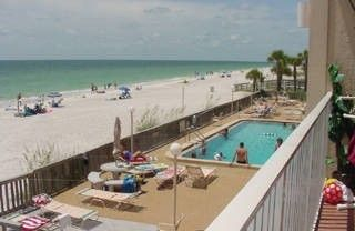 Indian Rocks Beach condo rental - View from your private balcony... Ocean or Pool... You choose!!
