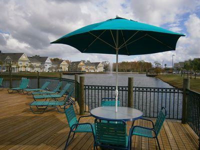 Sundeck at main clubhouse pool area