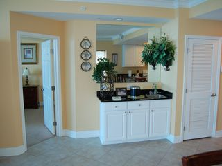 Gulf Shores condo photo - Wet bar and entrance to master bedroom