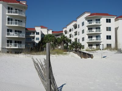 Condo from Beach! Your Unit is 2nd Down from Top & 3d Balcony Back on Right!