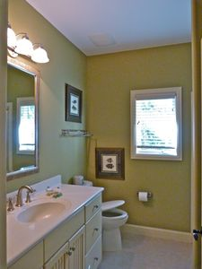 Forest Beach house rental - SeaGrass Sage Bath, instant hot water, quiet close toilets, natural light