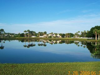 Vero Beach house photo - View of clubhouse from tennis courts, fitness center, ping pong and darts.