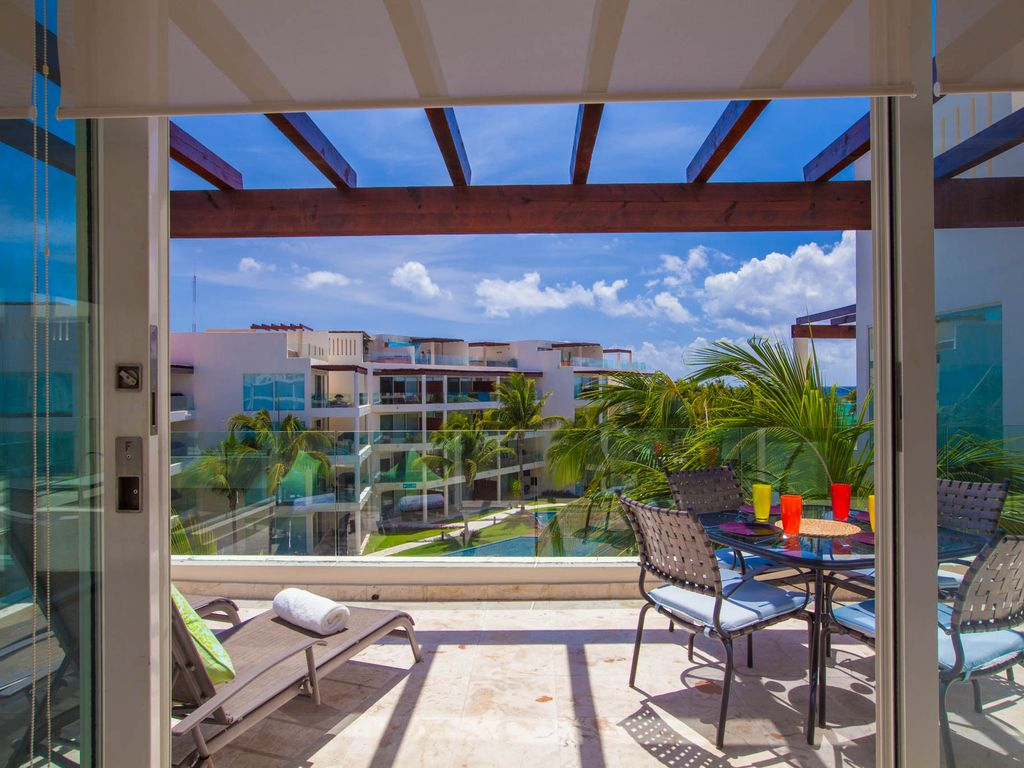 Ocean view penthouse at the elements homeaway playa for The elements playa del carmen