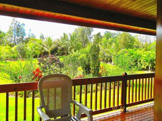 Pahoa house photo - Wrap around Lanai with Tropical Garden.