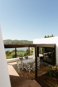 Sounio villa rental - Central Atrium, Sea View