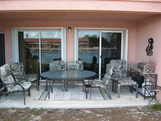 Patio table seats up to 8 - Bimini condo vacation rental photo