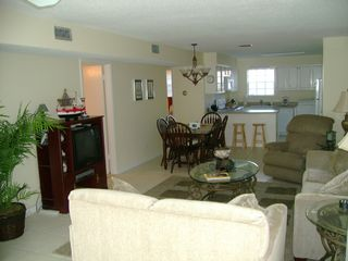 Dauphin Island condo photo - Large open family and dining area.