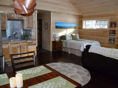 View towards back of cabin from dining area