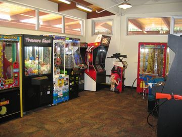 Arcade located in newly built lodge