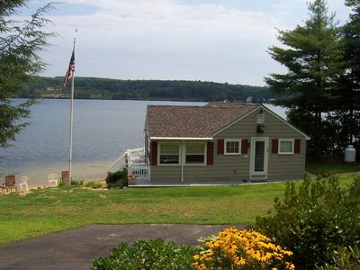 Lake Winnisquam cottage rental - Looking from driveway