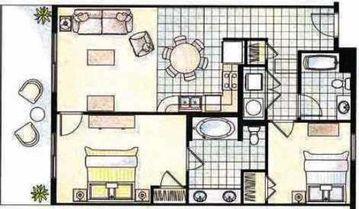 "Our condo floor plan - the ""Wave""."