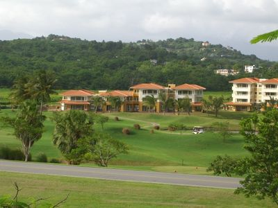 View of the property from the entrance of the Palmas del Mar Resort