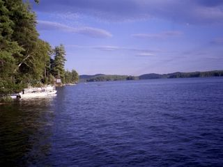 Squam Lake house photo - our waterfront area