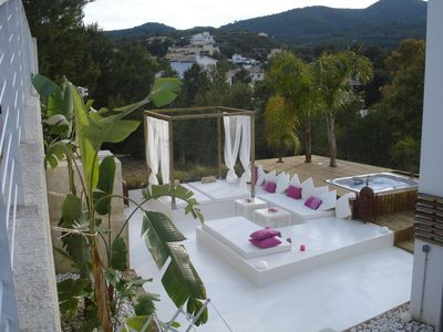 Javea Old Town villa rental - Chill out space with hot tube