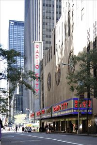 Radio City Music Hall and Rockefeller Center are located only blocks away.