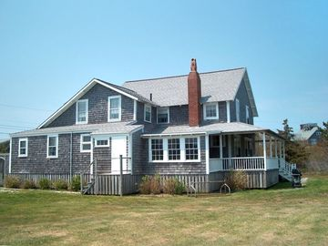Nantucket Town house rental - Saltair from the East- notice large side yard.