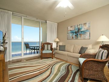 Fort Morgan condo rental - Living Room That Overlooks the Beach