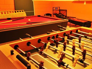 Games Room with Pool Table and Fooseball
