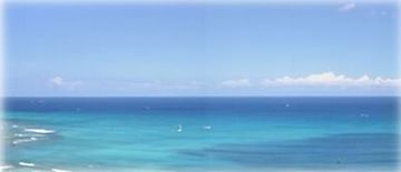 Waikiki condo rental - Your ACTUAL View from the Dining Room