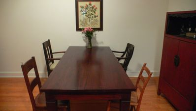 dining room can seat up to 8 guests
