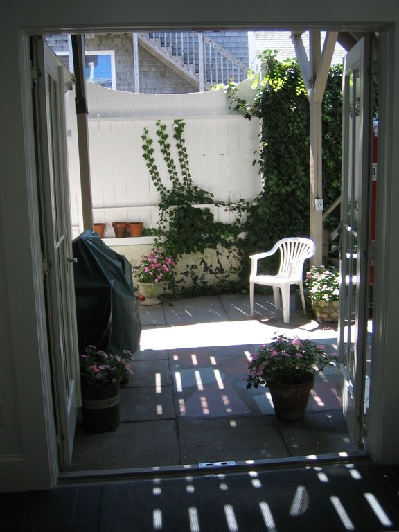Patio from inside Cottage