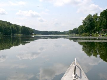 Canoeing on the lake - peaceful and pretty